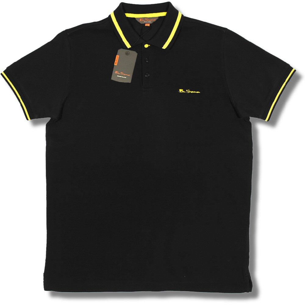 yellow 3xl classic ben sherman mod pique block tipped s s polo shirt black yellow 3xl. Black Bedroom Furniture Sets. Home Design Ideas