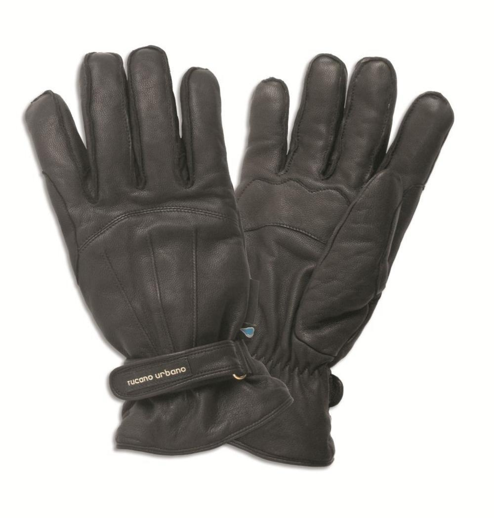 Tucano Urbano Scootering Armoured Leather New Softy Scooter Gloves Black