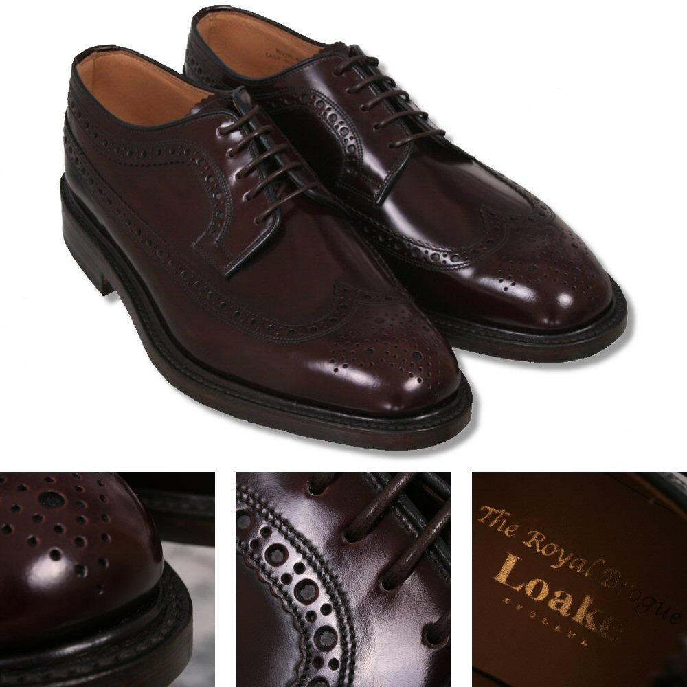 Long Wing Royal Brogue Shoe Burgundy