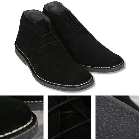 Roamers Mod Suede 2 Hole Rubber Sole Lace Up Desert Boots Thumbnail 2