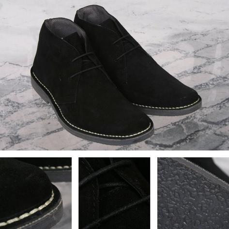 Roamers Mod Suede 2 Hole Rubber Sole Lace Up Desert Boots Thumbnail 4