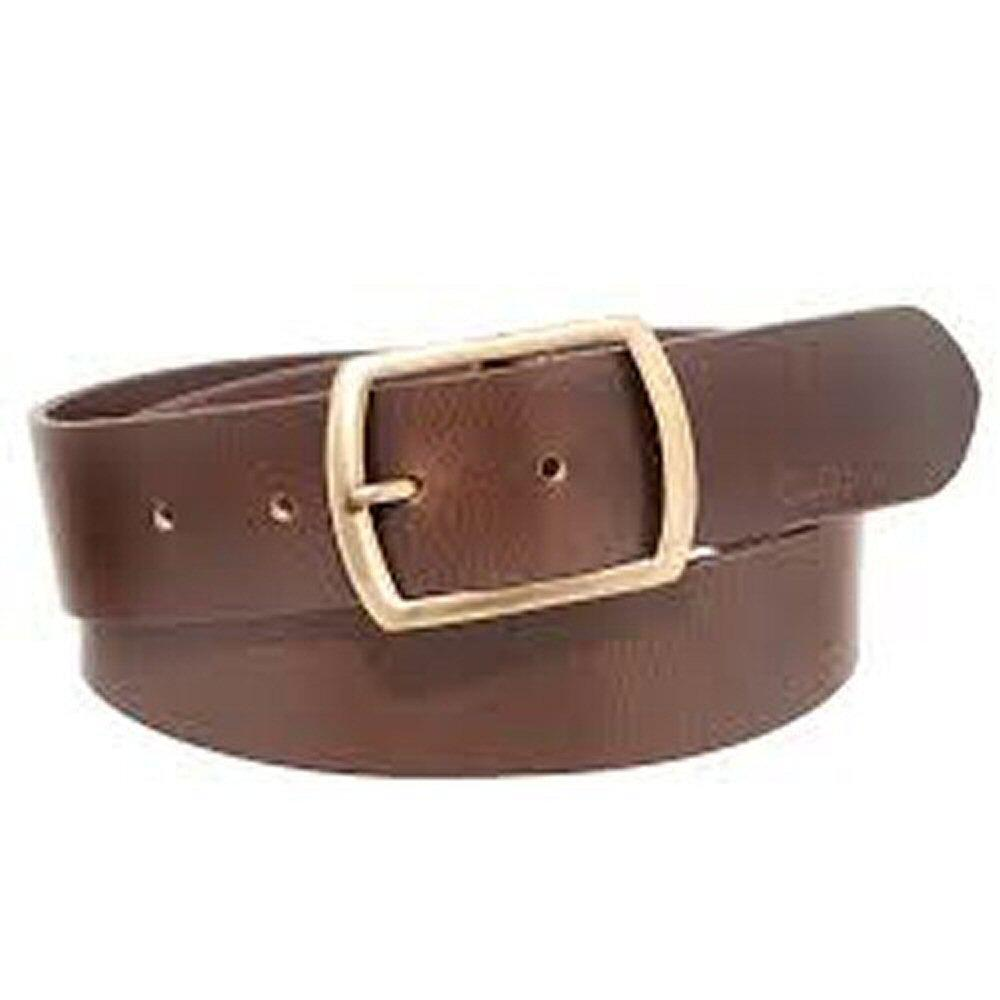 mustard bevin thick leather 1 5 quot wide leather belt brown