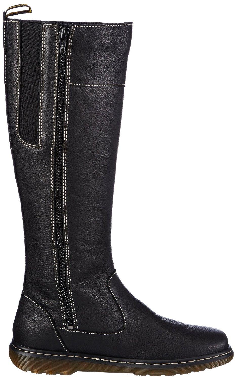 new dr martens mayen ladies zip side long black leather boot sz uk5 eu 38 adaptor clothing. Black Bedroom Furniture Sets. Home Design Ideas