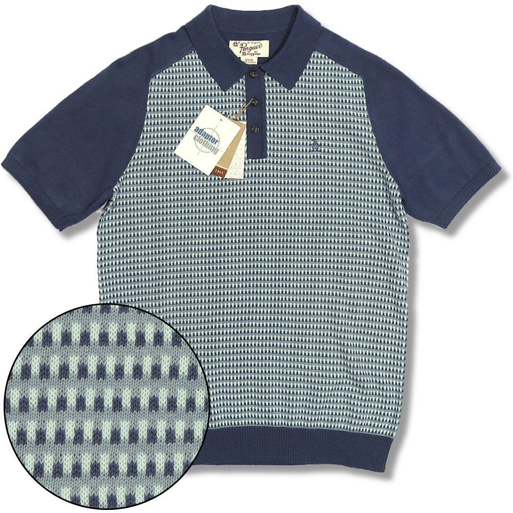 Original Penguin Mens Short Sleeve Patterned Polo