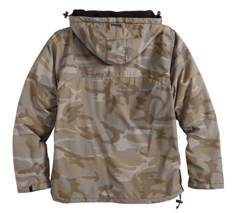 Surplus Raw Vintage Hooded Cagoule Windbreaker Fleece Lined New Night Camo  Thumbnail 2