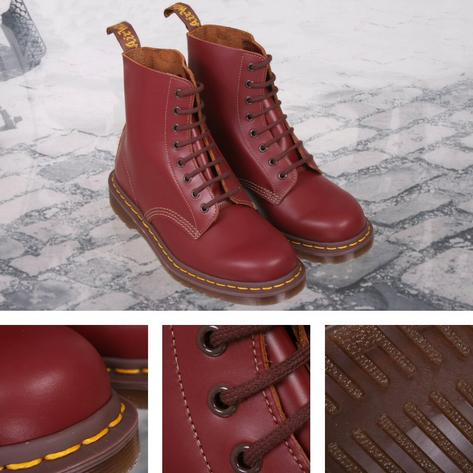 Dr Martens Vintage 1460 Boot MADE IN ENGLAND Ox Blood Quilon Leather Thumbnail 1