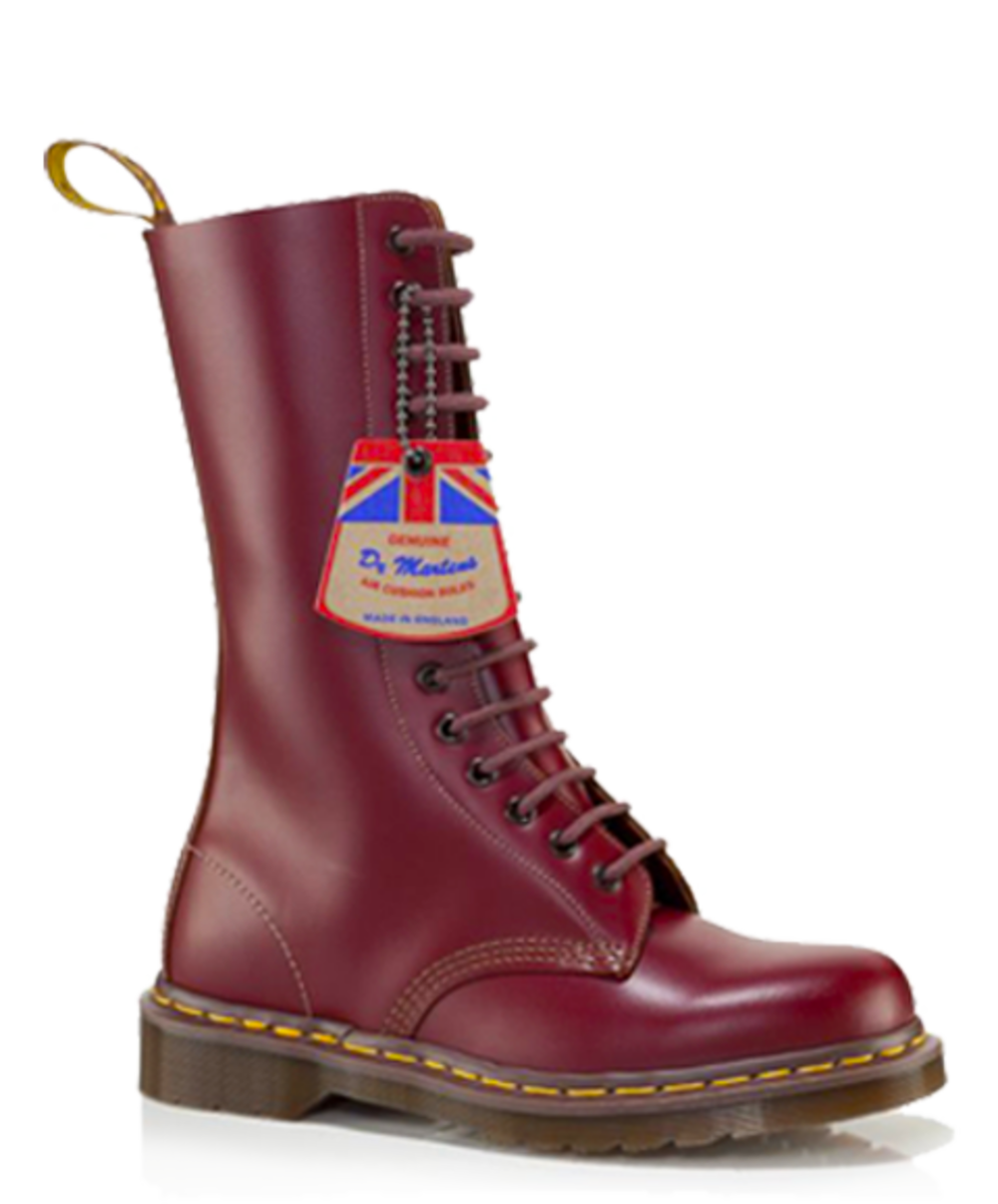 20fb6ac590078 Dr Martens Vintage 1914 Boot MADE IN ENGLAND 14 Hole Ox Blood Quilon  Leather 8