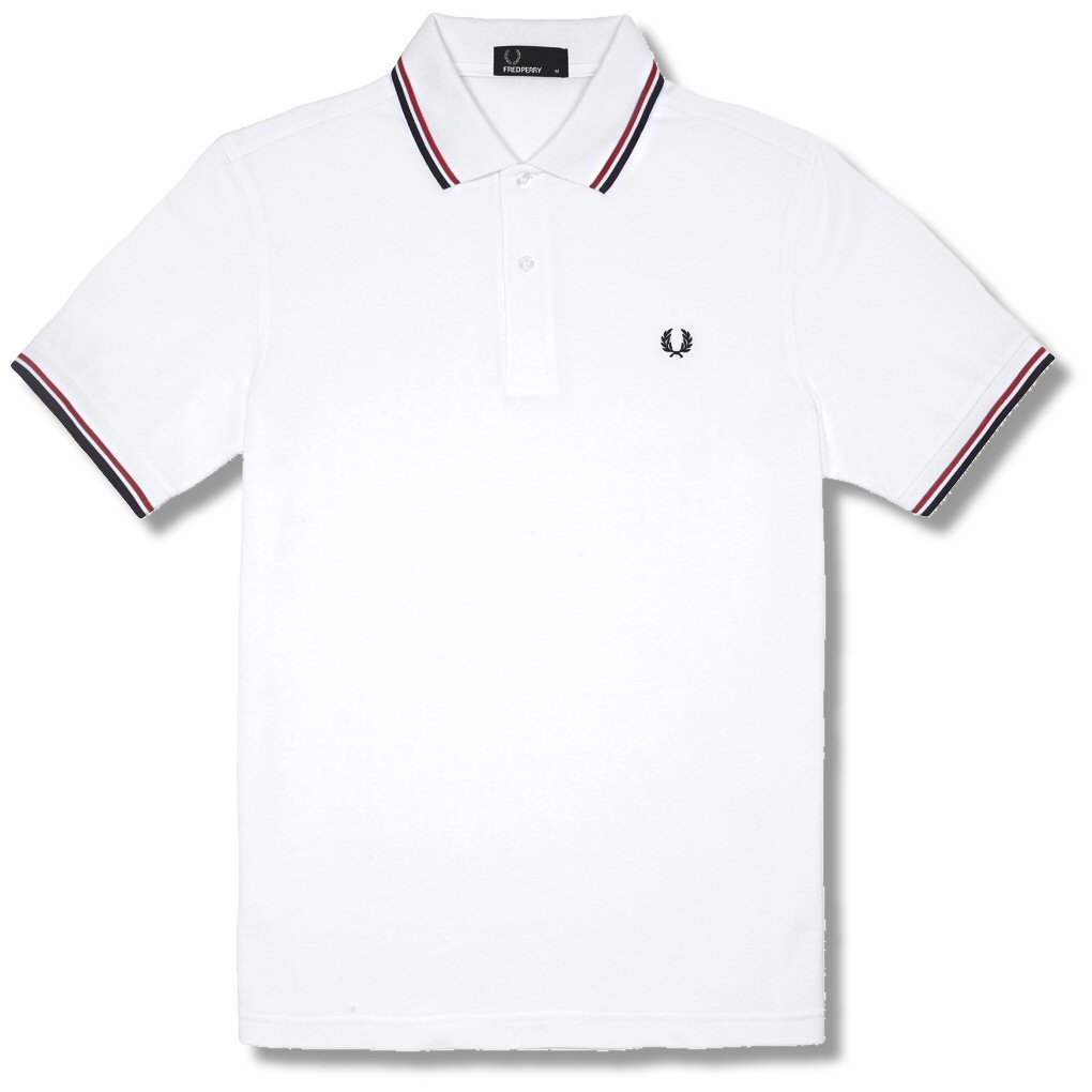 114443e68 Fred Perry Mod 60's Classic Laurel Wreath Tipped Pique Polo Shirt ...