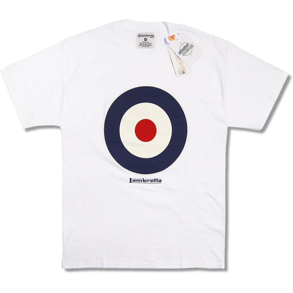 Black t shirt target -  Lambretta Heavy Mod Retro 60 S Target Roundel Crew Neck T Shirt
