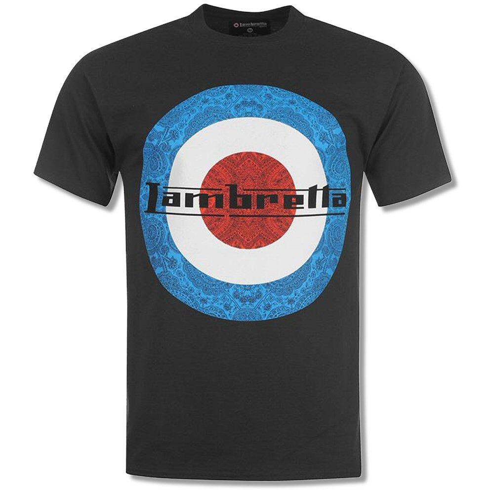 Black t shirt target - Lambretta Heavy Mod Retro 60 S Paisley Target Crew Neck T Shirt