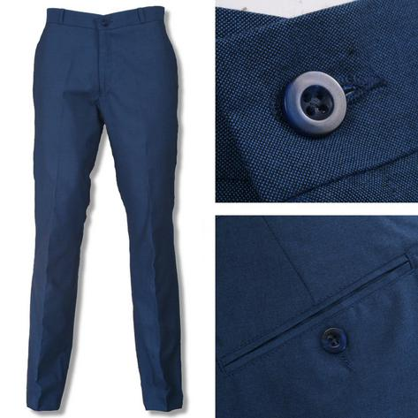 Relco Mod Retro Tonic Two Tone Sta Pressed Trousers Blue / Black Thumbnail 1