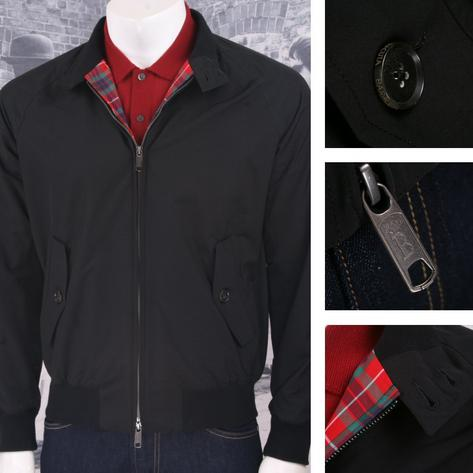 The All New Baracuta G9 Mod SLIM Fit Harrington Jacket True Black Thumbnail 1