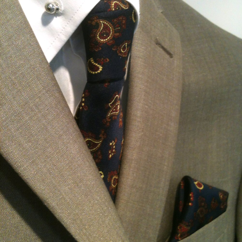 625f51227e1f5 Knightsbridge Retro Mod 60 s Matching Paisley Silk Slim Tie and Pocket  Square Na
