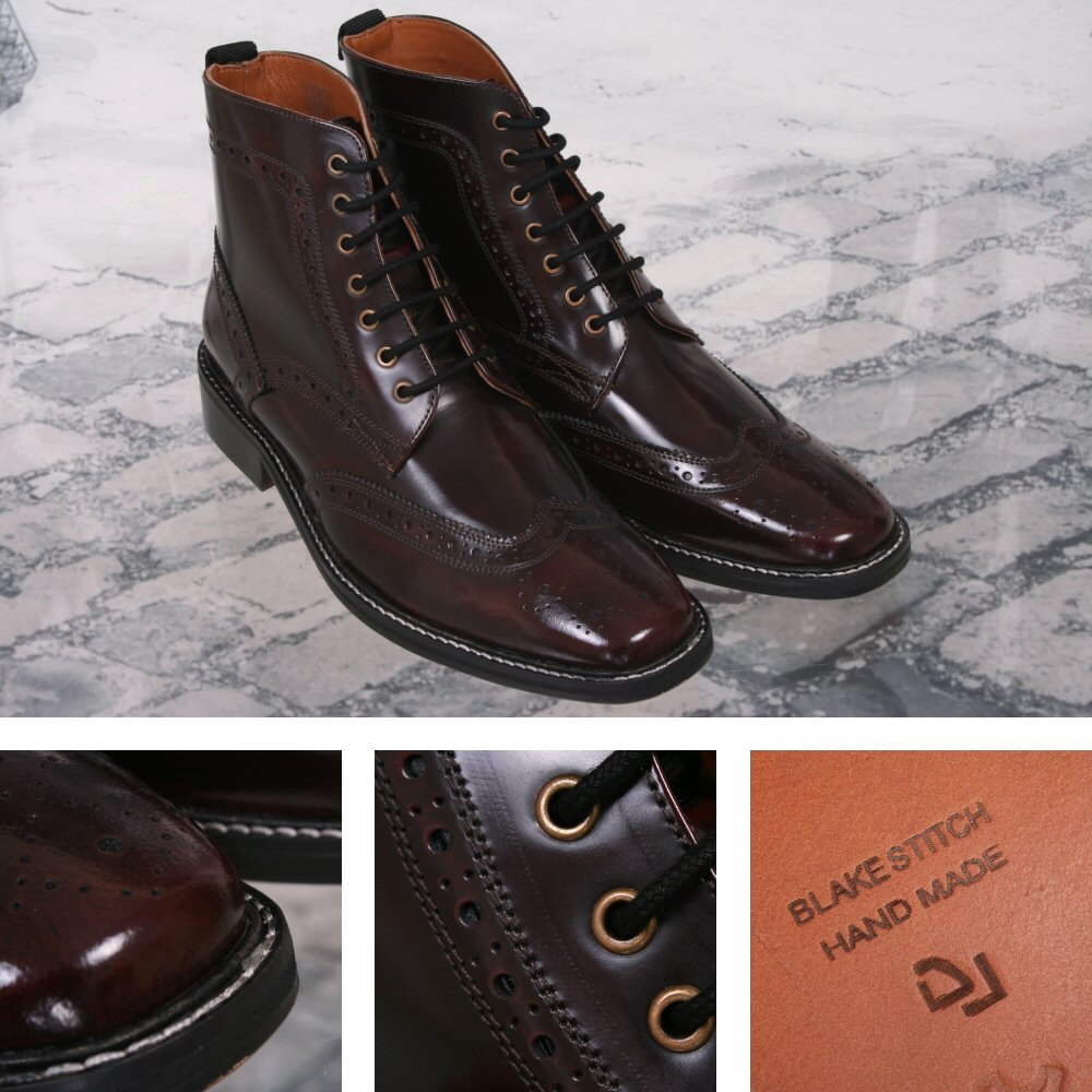 Delicious Junction Skin Leder Mod Brogue Leder Skin Boot Landslide Royale Ox Blood 8a655e