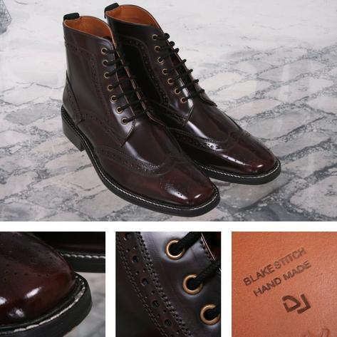 Delicious Junction Skin Mod Brogue Leather Boot Landslide Royale Ox Blood  Thumbnail 1
