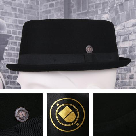 Dasmarca Rude Boy Narrow Brim 100% Wool Felt Trilby Pork Pie Hat Thumbnail 3