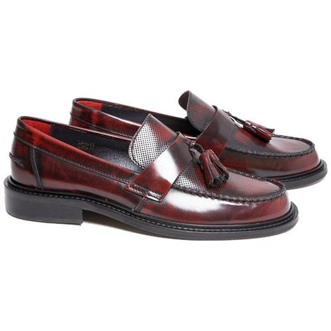 New Delicious Junction Perforated Toe Tassel Loafers Mod Shoe Ox Blood Thumbnail 1