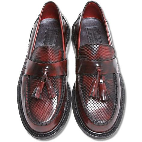 New Delicious Junction Perforated Toe Tassel Loafers Mod Shoe Ox Blood Thumbnail 2