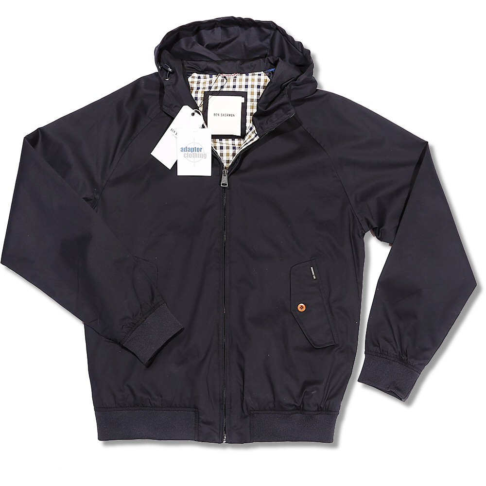 ben sherman mod retro 60 39 s gingham lined raglan sleeve hooded harrington adaptor clothing. Black Bedroom Furniture Sets. Home Design Ideas