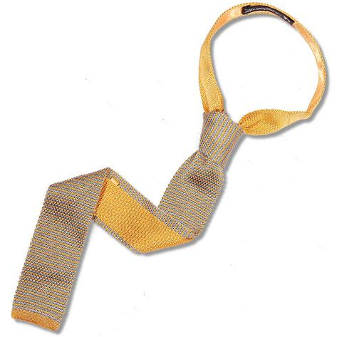 Knightsbridge Retro Mod 60's Ivy Slim Square End Micro Stripe Knitted Silk Tie Y Thumbnail 1