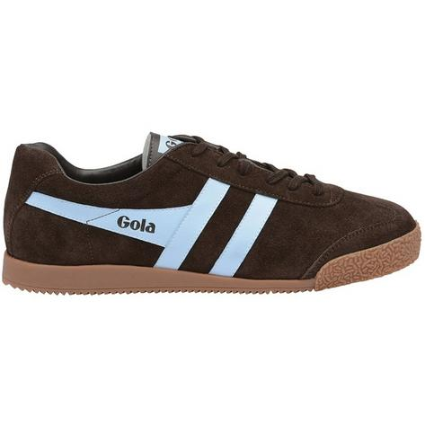 Gola Harrier Classic Suede Trainer Dark Brown Pale Blue  Thumbnail 2