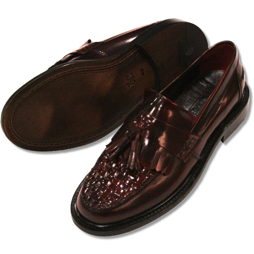 c36dfdbe70215 Delicious Junction Mod Skin Retro True Basket Weave Loafers Shoe OxBlood