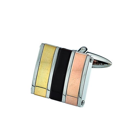 Adaptor Clothing 2 Tone Gold Colour Square Cufflinks Thumbnail 1