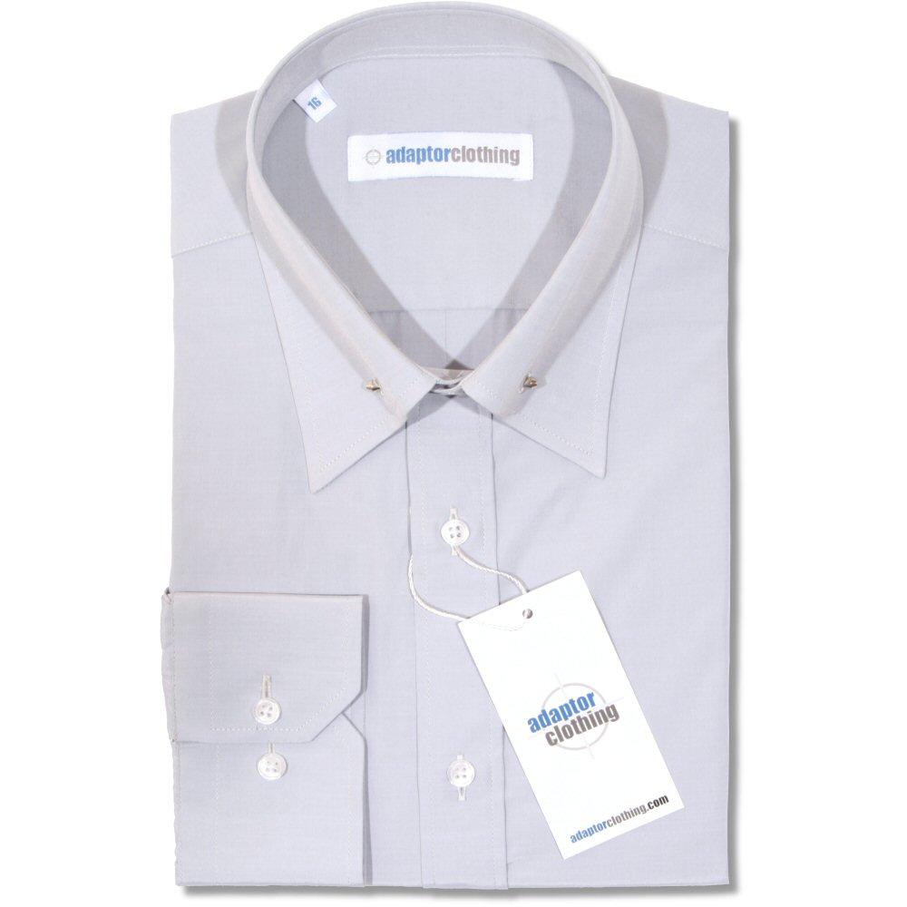 più recente f2b5b 519b7 Adaptor Clothing Mod Cotton Sateen PIN Collar L/S Slim Fit Smart Shirt