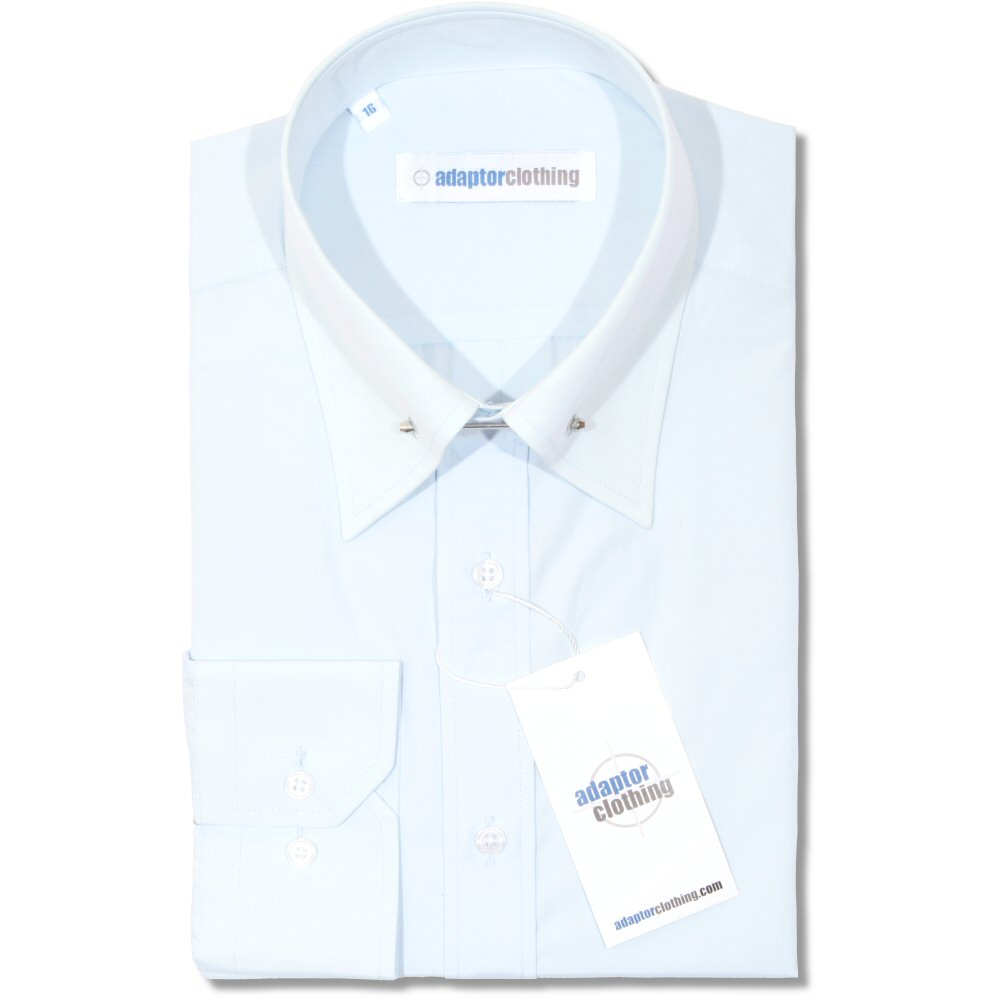 Adaptor-Clothing-Mod-Cotton-Sateen-PIN-Collar-L-S-Slim-Fit-Smart-Shirt