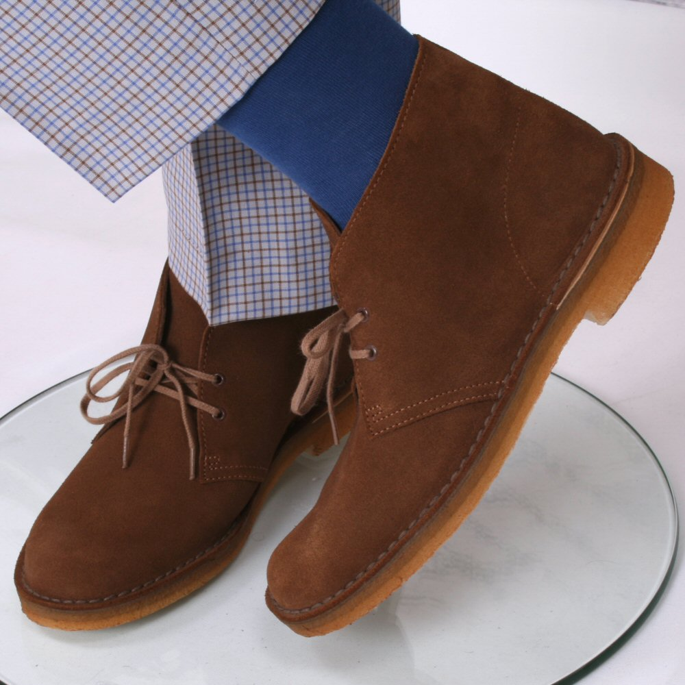 d09902849cd Clarks Originals Classic 2 Hole Real Crepe Sole Desert Boots Cola Suede