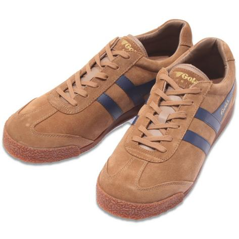 Gola Harrier Classic Suede Trainer Tan / Navy Thumbnail 1