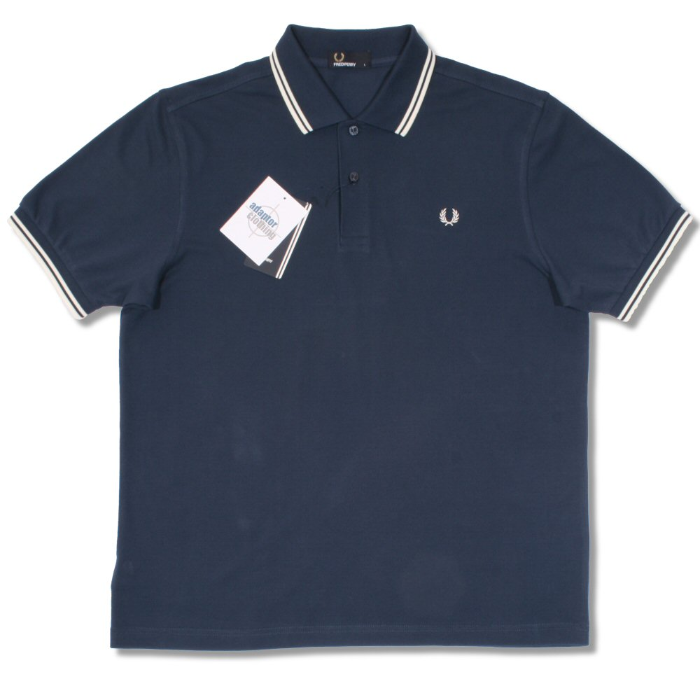 bed9f1ca Fred Perry Mod 60's Classic Laurel Wreath Tipped Pique Polo Shirt Blue  Thumbnail 1