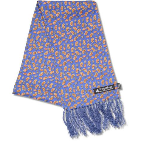 "Knightsbridge Mod 60's Retro LONG 7"" Silk Shadow Paisley Scarf Thumbnail 2"