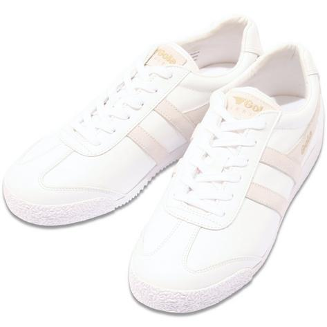 Gola Harrier Classic Leather Trainer White Thumbnail 1