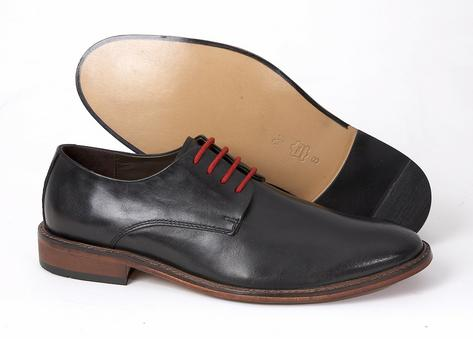 Delicious Junction Mod Plain Derby 4 Hole Lace Up Shoe Black Leather Thumbnail 3