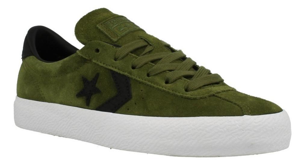 7c957dc01721 Converse Break Point Imperial Green Black Chevron Star Suede Trainer Board  Shoe