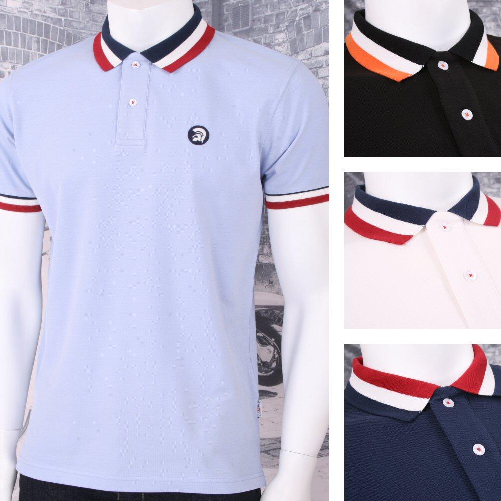 3ad542243864 Trojan Records Mod Skin Retro Ska 2 Button Bold Tip Collar Polo Shirt  Thumbnail 1 ...