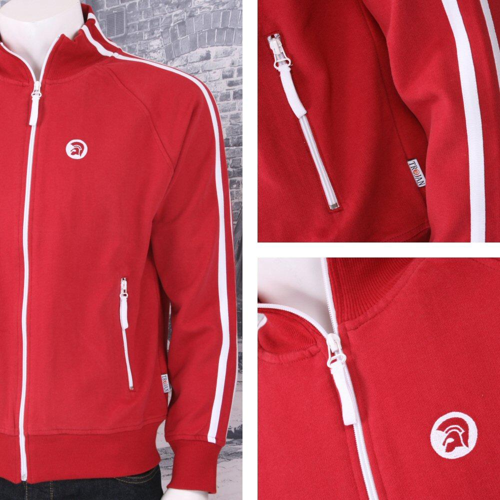 Trojan Records Limited Edition Retro Sports Twin Stripe Zip Thru Track Top (3 Co