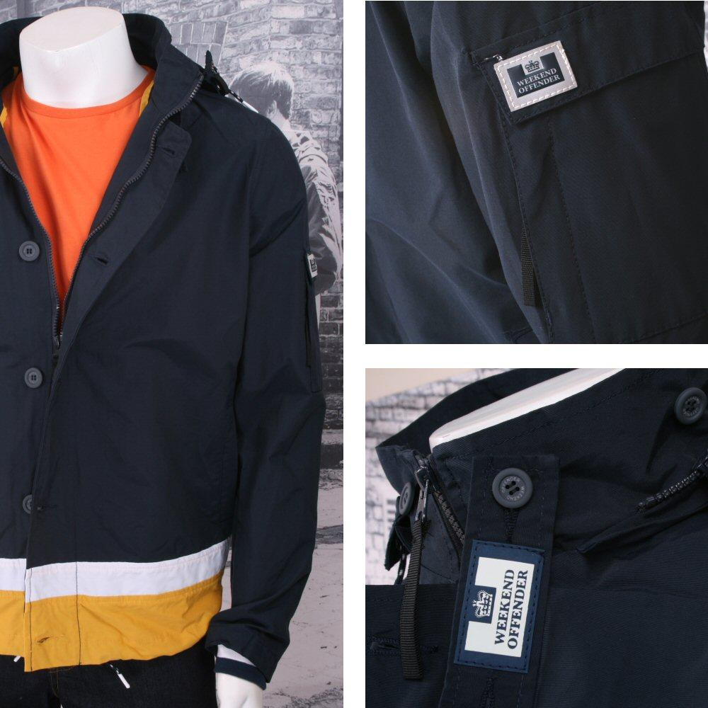 Weekend Offender Button Down Windbreaker Kagoule (2 Colours)