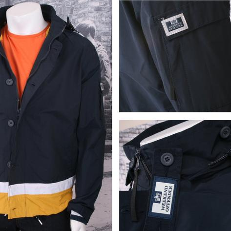 Weekend Offender Button Down Windbreaker Kagoule (2 Colours) Thumbnail 1