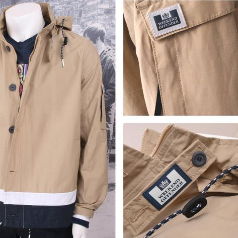 Weekend Offender Button Down Windbreaker Kagoule (2 Colours) Thumbnail 2