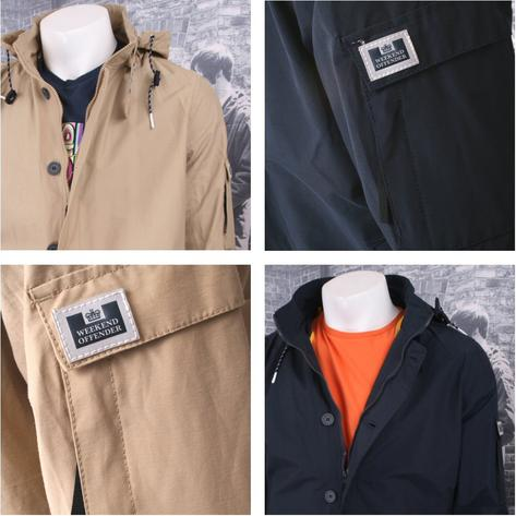 Weekend Offender Button Down Windbreaker Kagoule (2 Colours) Thumbnail 3
