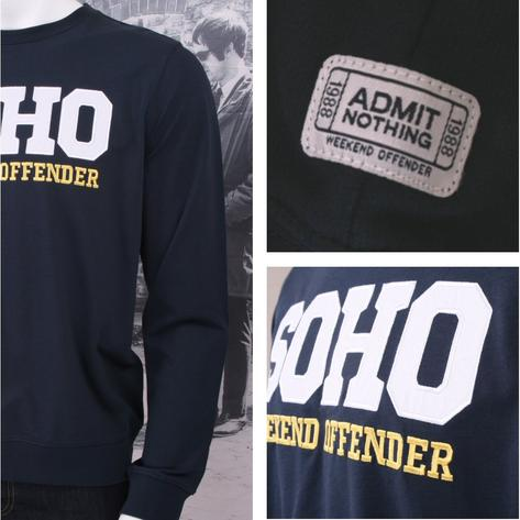 Weekend Offender Long Sleeve SOHO Print Sweatshirt (2 Colours) Thumbnail 3