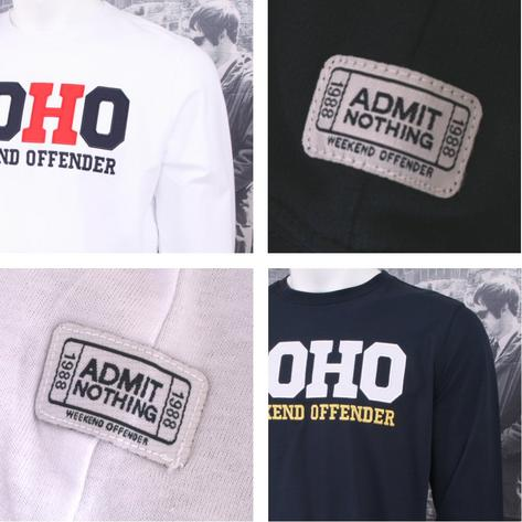 Weekend Offender Long Sleeve SOHO Print Sweatshirt (2 Colours) Thumbnail 1