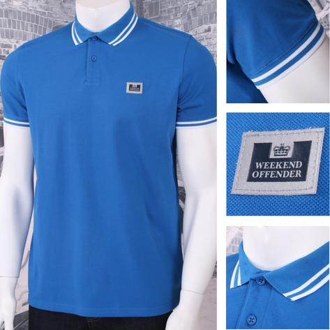 Weekend Offender Classic Style Short Sleeve Polo (4 Colours) Thumbnail 1