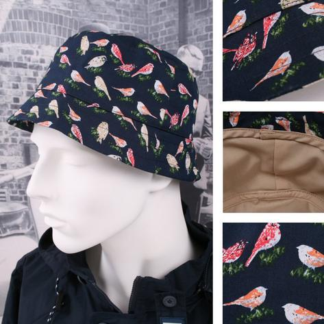Weekend Offender 100% Cotton Bird Print Style Bucket Hat One Size Thumbnail 1