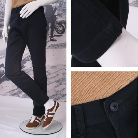 Solid Cliff Cotton Chino Trousers Thumbnail 2