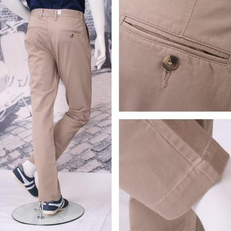 Solid Cliff Cotton Chino Trousers Thumbnail 5