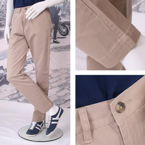 Solid Cliff Cotton Chino Trousers Thumbnail 3