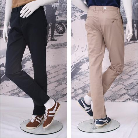 Solid Cliff Cotton Chino Trousers Thumbnail 1